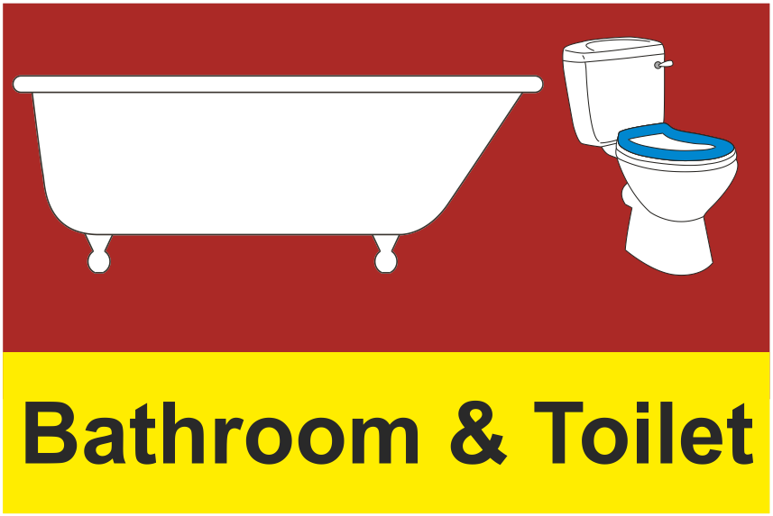 Dementia bathroom toilet sign - Image of bath room ...