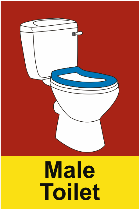 Dementia Male Toilet Sign